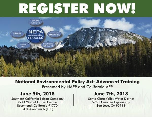 2018 NEPA Advanced Workshop - California Association of