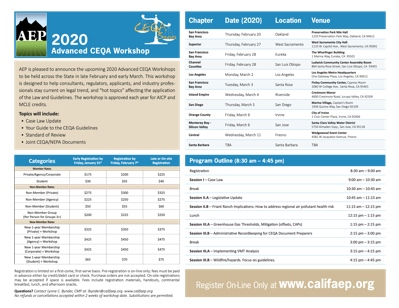 2020 Advanced CEQA Workshop Flyer