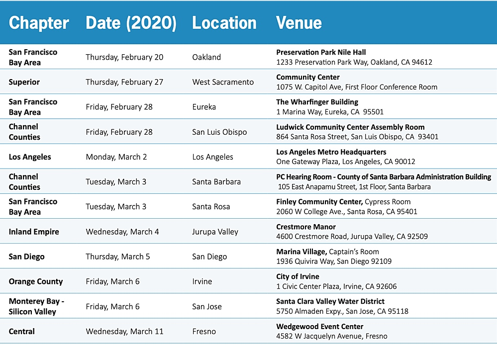 AEP 2020 Advanced CEQA Flyer dates locations tn